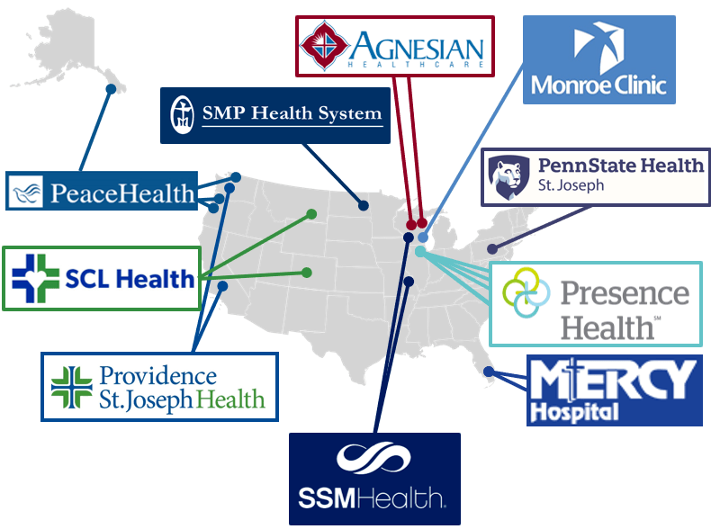 map of client sites